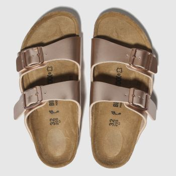 birkenstock bronze arizona sandals junior