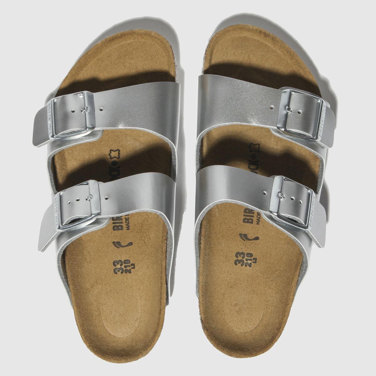 Birkenstock Silver Arizona Sandals Junior