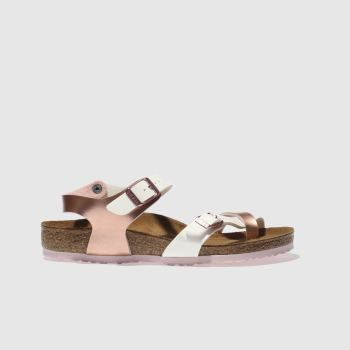 Birkenstock White Taormina Girls Junior