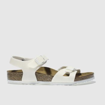 Birkenstock White Rio Girls Junior