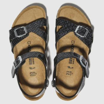 Birkenstock Black Rio Girls Junior