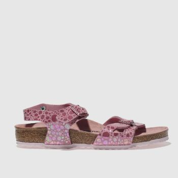 BIRKENSTOCK PINK RIO TRAINERS JUNIOR