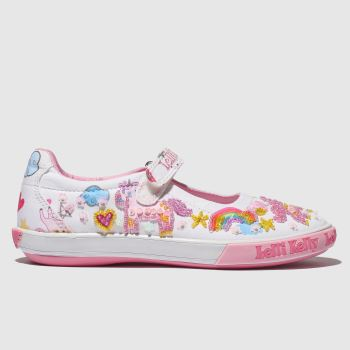 LELLI KELLY WHITE & PINK UNICORN DOLLY SHOES JUNIOR