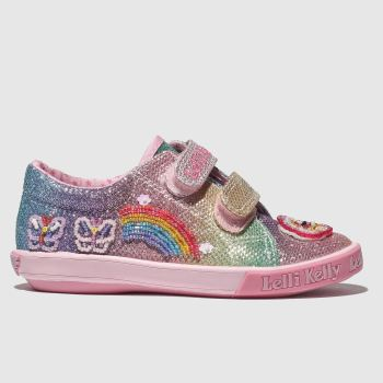 LELLI KELLY PINK & BLUE RAINBOW SPARKLE SHOES JUNIOR