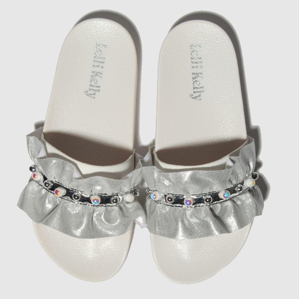 Lelli Kelly White & Silver Katia Sandals Junior