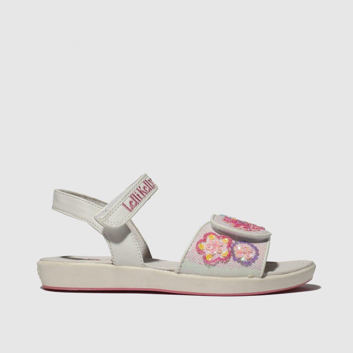 Lelli Kelly White & Pink Daisy Sandals Junior