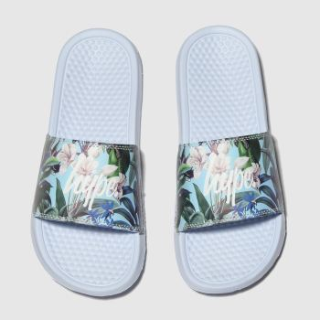 Hype Multi Pastel Floral Sliders Girls Junior