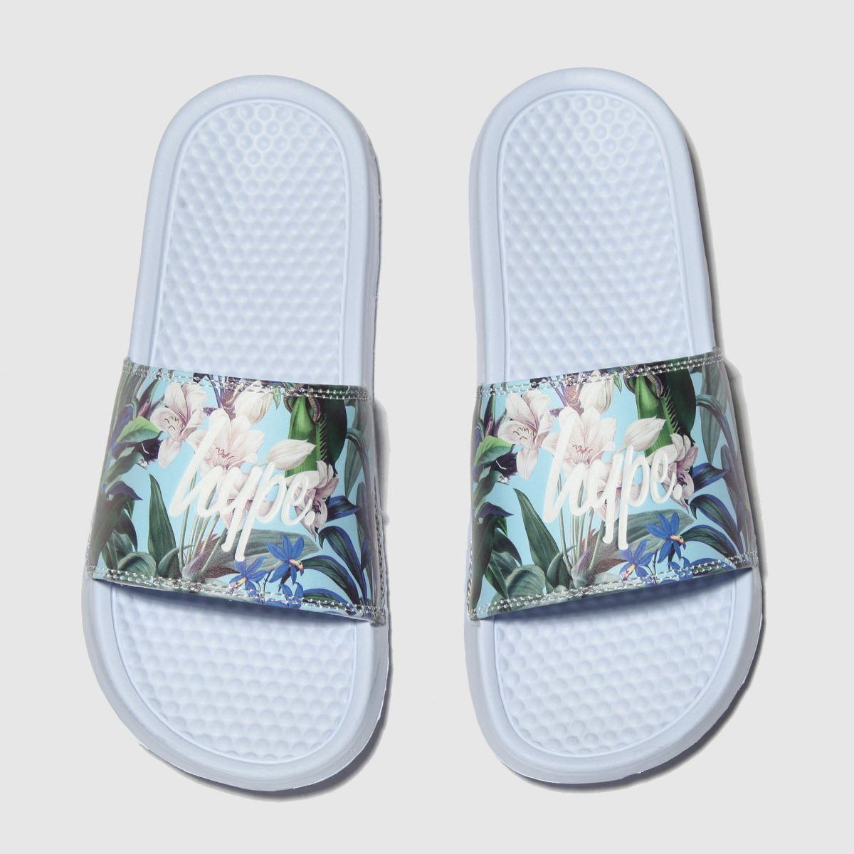 Hype Multi Pastel Floral Sliders Sandals Junior