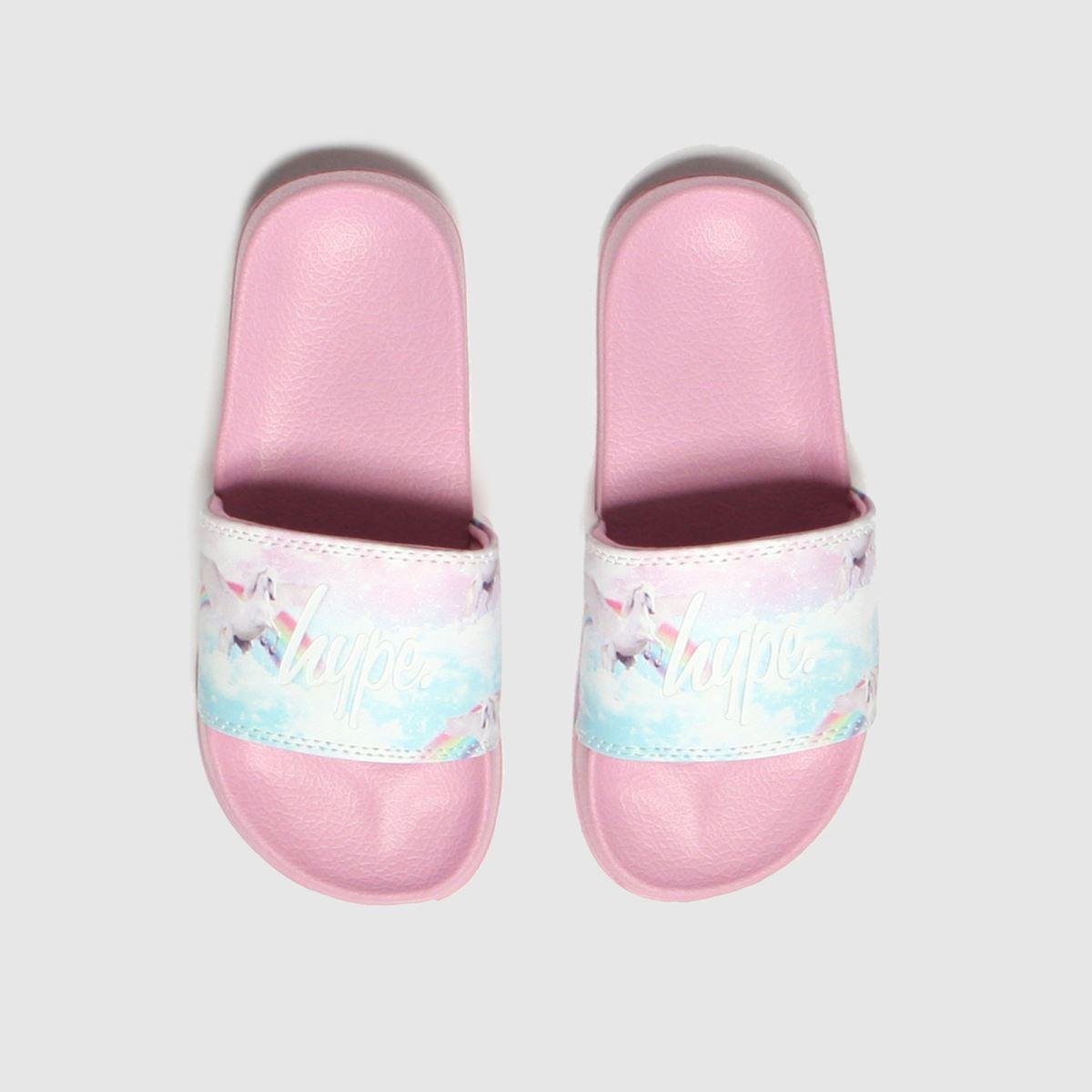 Hype Pink Pink Unicorn Slider Jnr Trainers Junior