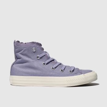 CONVERSE LILAC CHUCK TAYLOR ALL STAR HI TRAINERS JUNIOR