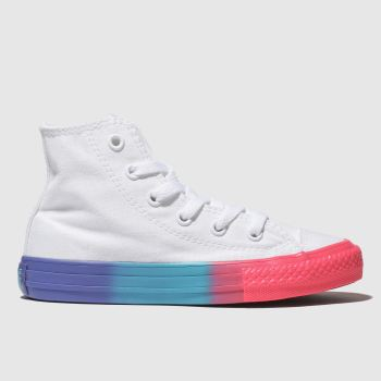 Converse White Chuck Taylor All Star Hi Girls Junior