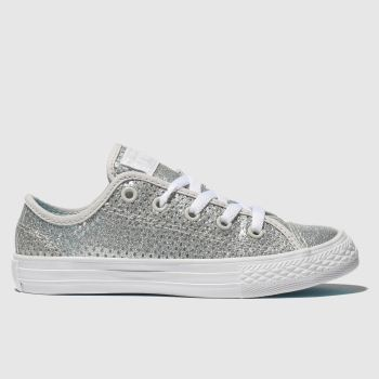 Converse Silver All Star Lo Glitter Girls Junior