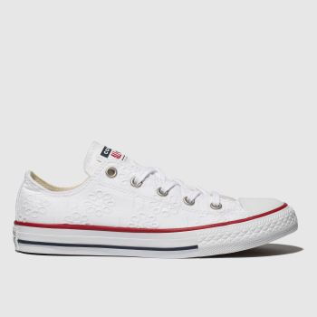 Converse White Chuck Taylor All Star Lo c2namevalue::Girls Junior