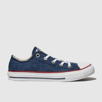 Converse Marineblau Chuck Taylor All Star Lo Mädchen Junior