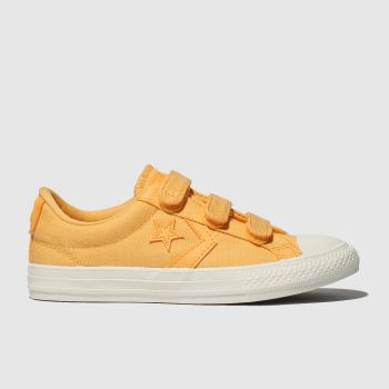 Converse Yellow Star Player 3V Lo Girls Junior