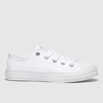 Converse White & Silver Lo c2namevalue::Girls Junior
