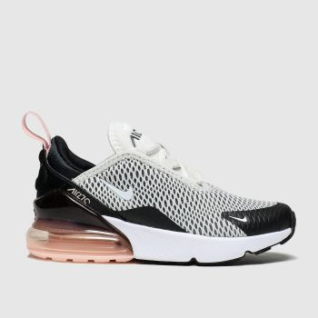 Nike White & Pink Air Max 270 Knit Girls Junior