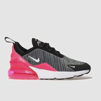 Nike Black Air Max 270 Knit Girls Junior