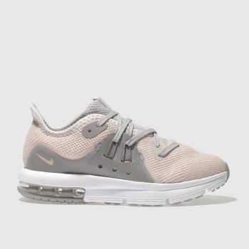 NIKE PEACH AIR MAX SEQUENT 3 TRAINERS JUNIOR