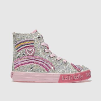 LELLI KELLY SILVER TILLIE MID TRAINERS JUNIOR