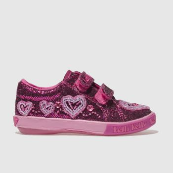 Lelli Kelly Pink AVA VELCRO Girls Junior