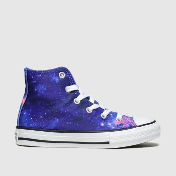 Converse Blue All Star Hi Miss Galaxy Girls Junior
