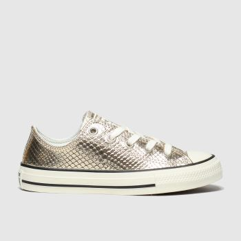 Converse Gold All Star Lo Metallic Snake Girls Junior