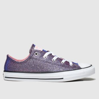 converse purple all star lo space star trainers junior