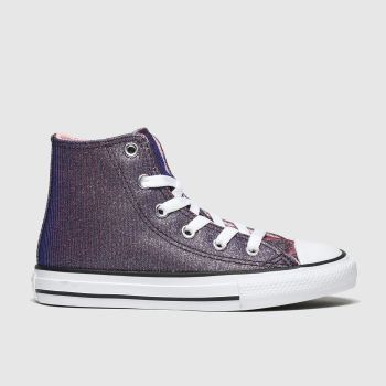 Converse Purple All Star Hi Space Star Girls Junior