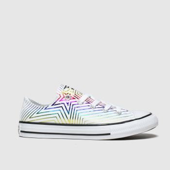 Converse White & Purple All Star Lo All The Stars Girls Junior