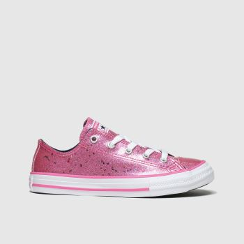 Converse Pink All Star Lo Galaxy Glimmer Girls Junior
