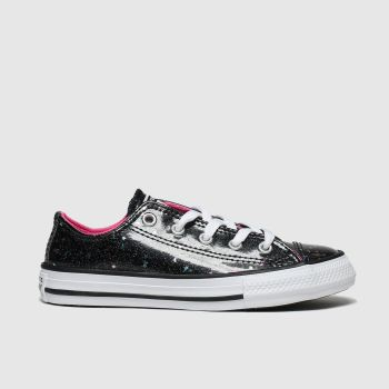 Converse Black All Star Lo Galaxy Glimmer Girls Junior