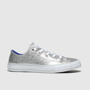 Converse Silver All Star Lo Galaxy Glimmer Girls Junior from Schuh