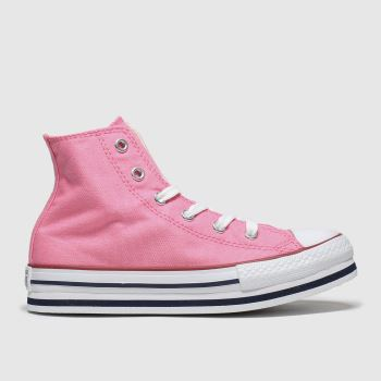 Converse Pink Hi Platform Eva Girls Junior