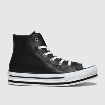 Converse Black All Star Hi Platform Eva Girls Junior