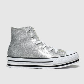 Converse Silver All Star Hi Platform Eva Girls Junior