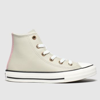 Converse Light Grey All Star Hi Mission Warmth Girls Junior