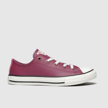 converse burgundy all star lo mission warmth trainers junior