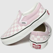 vans pink classic slip on trainers junior