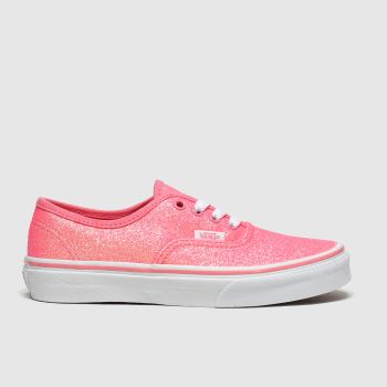 Vans Peach Authentic Glitter Girls Junior