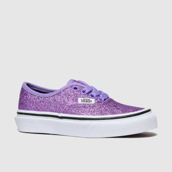 Vans Purple Authentic Glitter Girls Junior