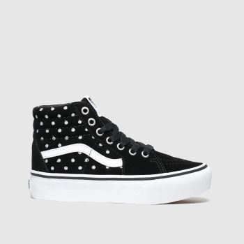Vans Black & White Sk8-Hi Platform 2.0 Girls Junior