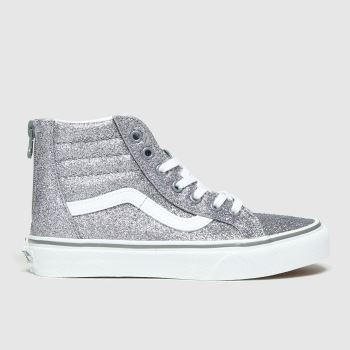 Vans Pewter Sk8-hi Zip Girls Junior