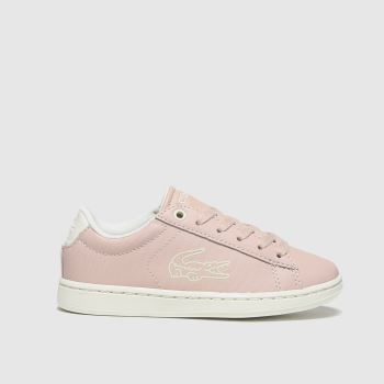 Lacoste Pale Pink Carnaby Evo Girls Junior