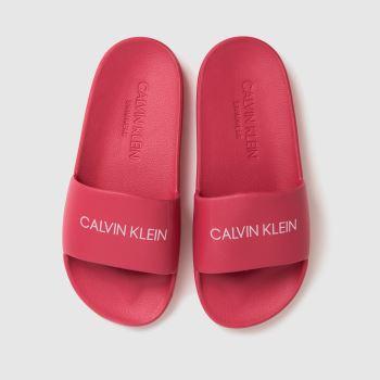 CALVIN KLEIN Pink Slides Girls Junior