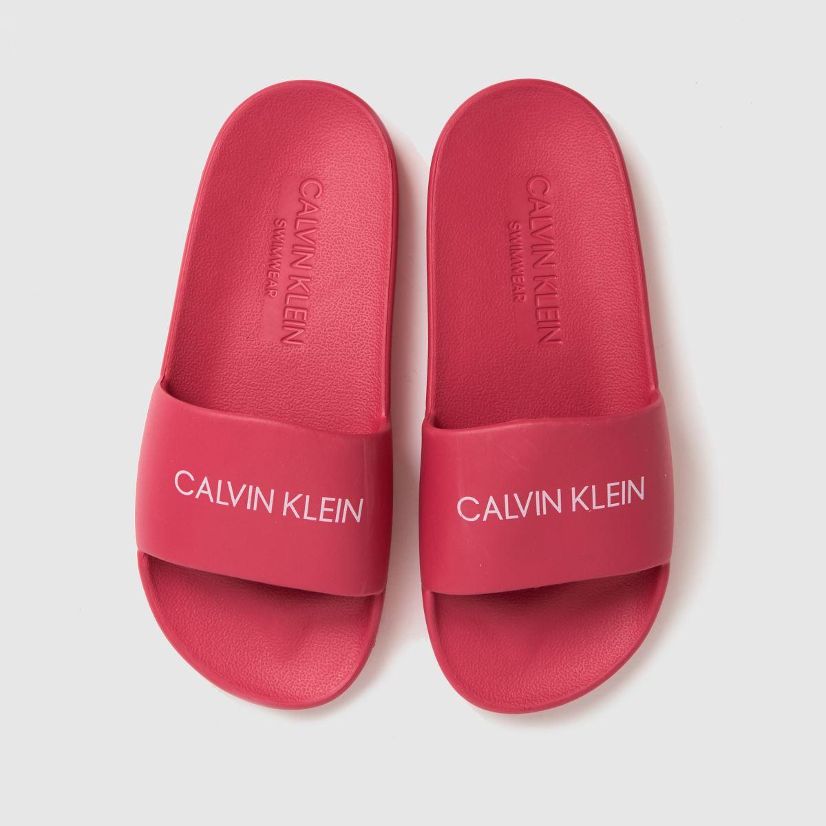 CALVIN KLEIN Pink Slides Trainers Junior