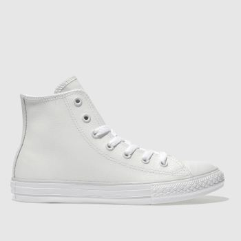 Converse White ALL STAR HI LEATHER Girls Junior