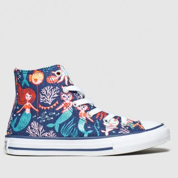 Converse Navy & Orange Hi Mermaid Girls Junior