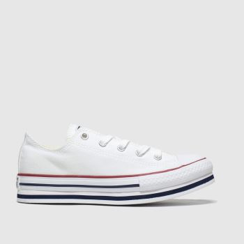 Converse White All Star Lo Platform Eva Girls Junior
