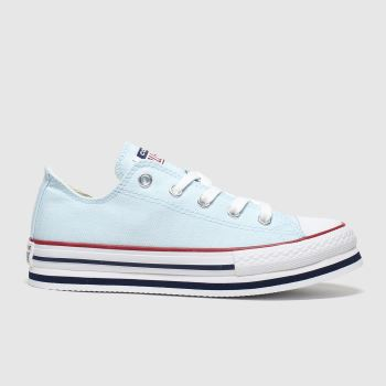 Converse Pale Blue Ctas Lo Platform Eva Girls Junior#